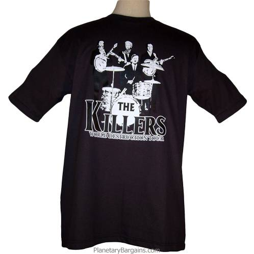 05b4140de142 The Killers World Destruction Tour Shirt Black - Funny Killers T ...