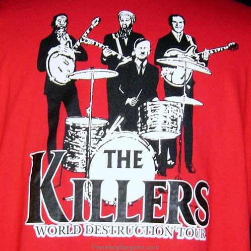 8875edc20396 The Killers World Destruction Tour Shirt Black - Funny Killers World ...
