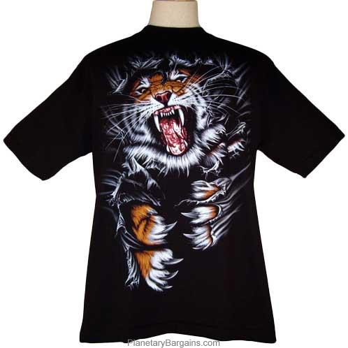 Tiger Shirt - Tiger Ripper Big Cat Tee