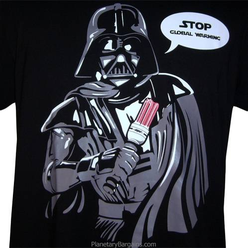 Darth Vader Stop Global Warming Shirt