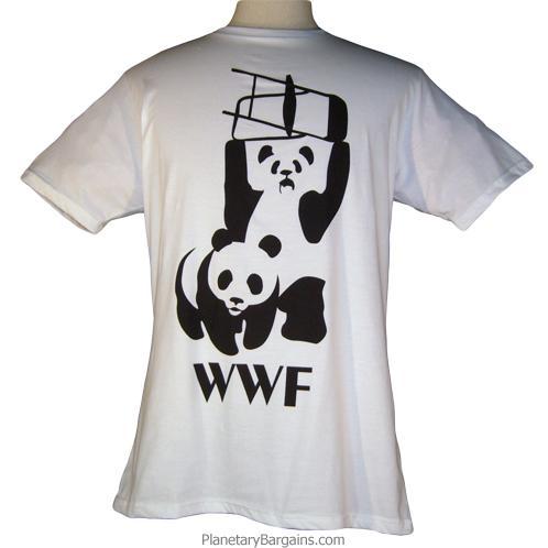 Banksy WWF Panda Shirt White Funny WWF Panda Shirts to Buy – Wwf Chair